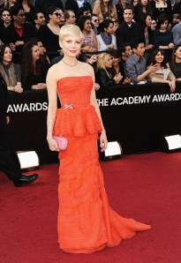 The Chic Daily, Fashion Journalist Club, Academy Awards 2012, Michelle Williams