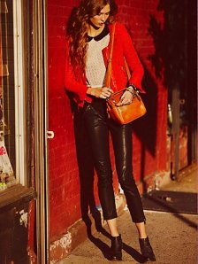 The Chic Daily, Fashion Journalist Club, Leather Leggings, Avery Robrock