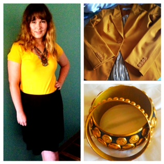 The Chic Daily, Fashion Journalist Club, Jessica Abercrombie, Gold