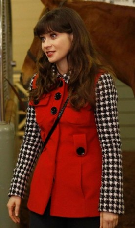 new-girl-red-houndstooth-jacket-345x580