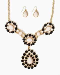 black cc necklace