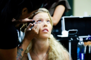 1 Christa Sandstrom backstage at Tucson Fashion Week 2014, Photographer Jacki Sterna 001 (1)