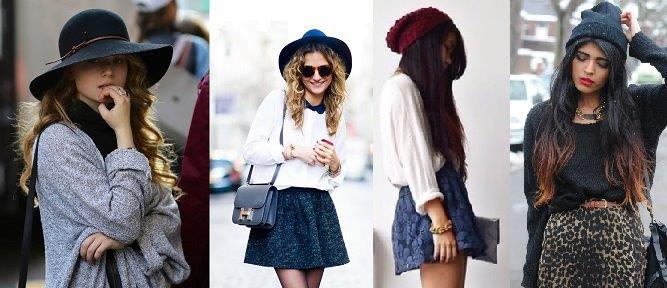 Jazz and hats and beanies // From L-R: 1 and 2 from Wardrobe Looks, 3 from Where to Get It, 4 from Photobucket