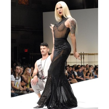 MIss-Fame-walks-Marco-Marco-NYC-Runway-with-Mystery-Man-by-Thomas-Graf-rupauls-drag-race