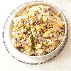 8-cheddar chive smashed potatoes