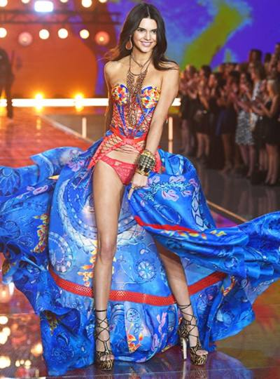 Kendall Jenner at the 2015 Victoria's Secret Fashion Show // Photo retrieved from Us Magazine