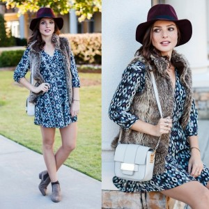 The perfect example of a fur fest adding the right amount of boho-chic. (Image found on fasioninthestreet.com)