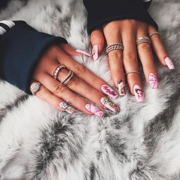 kylie-jenner-barbie-nails-instaram